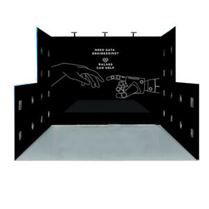 10ft portable trade show display booth exhibition expo with custom print