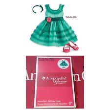 American Girl Doll MaryEllen's Birthday Dress Outfit Teal Turquoise Green NEW!