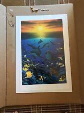 """Wyland """"Ocean Calling"""" Signed Special Limited Edition Lithograph with COA - NEW"""