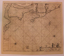 Carte marine nautical map côte du Poitou Van Keule XVIIème siècle