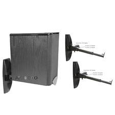 Two (2) Bookshelf Speaker Mount/Brackets Universal, Tilt Swivel 22lbs max WS101