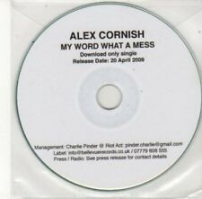 (BY710) Alex Cornish, My Word What A Mess - 2009 DJ CD
