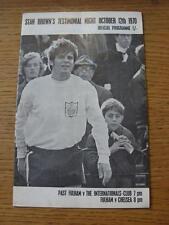 12/10/1970 Fulham v Chelsea & Past Fulham v Internationals Club [Stan Browns Tes