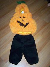 Size 12-24 Months Pumpkin Halloween Costume Hooded Vest with Pants EUC