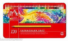 CARAN D'ACHE SUPRACOLOR SOFT TIN of 120 water soluble soft colour pencils