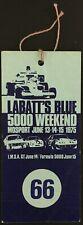 1975 Labatt's Blue 5000 Weekend Pass Ticket Mosport Racing Formula 1 Vintage
