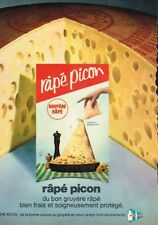 M- Publicité Advertising 1968 Le Fromage rapé Picon