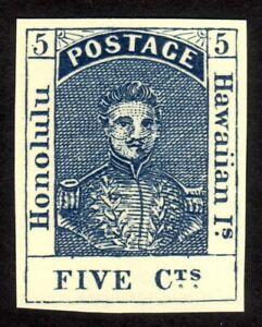 1853, Hawaii 5c, King Kamehameha III, MNG, Sc 5, FORGERY