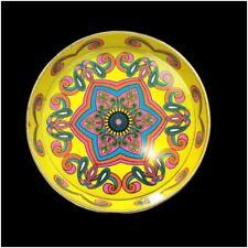 Daher Decorated Ware Tin Metal Collectible Tray 1960's Art Design Fun Multicolor
