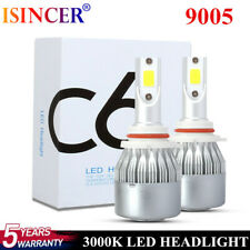 9005 HB3 LED Headlight Kit 2000W 20000LM High Low Beam Bulb HB3 H10 3000K Yellow