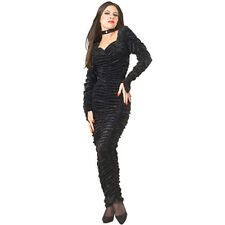Vampire Coffin Gown Halloween Costume Black Adult Woman Free US Ship S 2-8 Small
