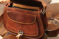 Women's Vintage Genuine Brown Leather Messenger Shoulder Cross Body Purse NEW