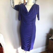 Twiggy  @ M&S  size 12    BNWT Dark Violet Stretch ruffled front dress