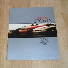 Toyota Sports Brochure 1987 - Supra - Celica GT - MR2 Mk1