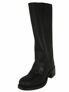 $378 Frye Womens Campus 14L Tall Pull On Leather Boots, Black, US 9
