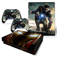 Xbox One X Sticker Set Protective Skin Console & Controllers - 0512 - Iron Man