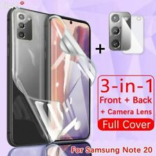 Full Cover For Samsung Galaxy Note Screen Back Camera Protection Hydrogel Glass