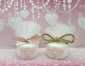 Personalised Rose Gold Swirl Tealight Candle Wedding Favours (Set of 10)