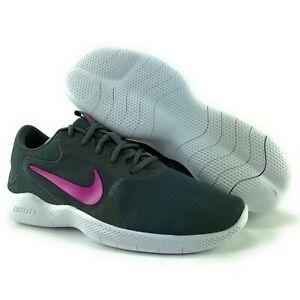 Nike Women's Flex Experience RN 9 Iron Grey Fire Pink Shoes CD0228-002 Sz 11.5 W