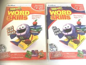 2 x PC NEW SEALED Software BRAINTASTIC WORD SKILLS Key Stage 1 and key stage 2