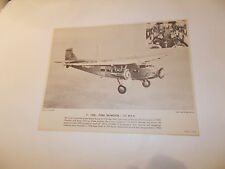 1960's United Air Lines Education Aviation 1930 Ford Tri-Motor Photo Print