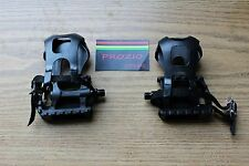 "Prozio Resin Bicycle Pedals Road/MTN Bike Pedal 9/16"" With Toe Clips & Straps"