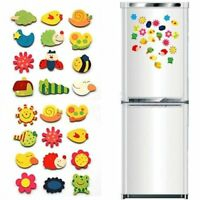 48pcs Animal Wooden Fridge Magnet/Glue Sticker Refrigerator for Kids Children