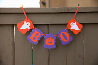"Halloween ""Boo"" Banner, Halloween Party Decorations Favors, Supplies, USA Seller"