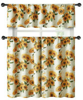 Country Farmhouse Sunflower Garden Complete Kitchen Curtain Tier & Valance Set