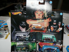 HOT WHEELS DC comics 50th super heros set of 5