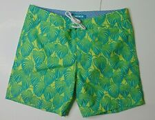 New Bonobos Men Swim Trunks Size 32 Board Shorts Mesh Lined Floral Leaf Green