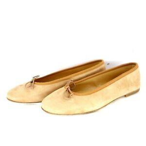 Gallucci Damen Schuhe Ballerinas Gr 37 38 Braun Leder Wildleder Rund NP 139 Neu