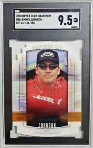 2000 UD Maxximum #38 Jimmie Johnson Die-Cut SP /250 Rookie Card RC SGC 9.5 Mint+