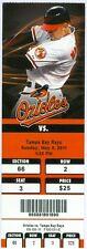 2011 Orioles vs Tampa Bay Rays Ticket: Derrek Lee Home Run /B.J. Upton 4 RBIs