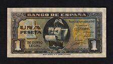 F.C. 1 PESETA SEPTIEMBRE 1940 , SERIE G , EBC , MARGEN SUPERIOR SUCIO .
