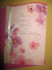"New American  greeting card  Happy Birthday (female)  ""for someone special"""