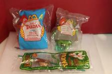 DISNEY TARZAN  McDONALD'S HAPPY MEAL TOYS X3 1999-2000 NEW IN BAG