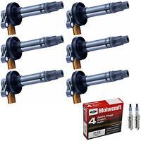 Motorcraft Iridium Spark Plug & Engine Ignition Coil Set For Ford F-150 3.5L V6