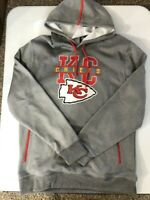 NFL KANSAS CITY CHIEFS  HOODIE Sweatshirt Men's SZ XL Gray