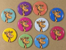 Toys R us Geoffrey the Giraffe buttons X 10 Pins 1.25 Inch toysrus kid retro