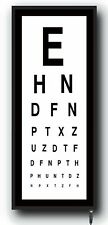 Wall Mounted Eye Test Chart light box medical opticians Games Room  Dispaly LED