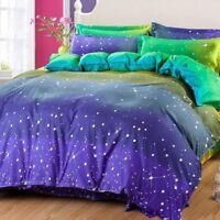 Starry Sky Print Bedding Set Duvet Quilt Cover+Sheet+Pillow Case Four-Piece Hot