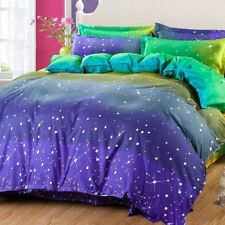 Starry Sky Print Bedding Set Duvet Quilt Cover+Sheet+Pillow Case Four-Piece Hot
