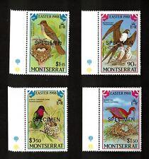 "Montserrat 1988 Sc# 672-75 Bird Set, ""Specimen"" Ovpt. NH, VF"