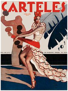 "20x30""Quality Decoration Poster.Room art.Dancing rumbera w/ maracas.6775"