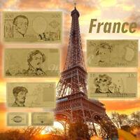 WR 1987s Banque de France Or billet de banque Set 10,20.50,100,200 Collection