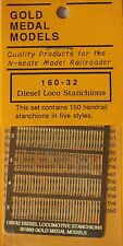 Gold Medal Models 160-32 - Diesel Locomotive Handrail Stanchions- N Scale