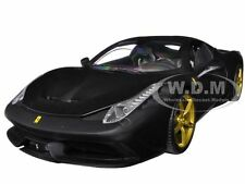 FERRARI 458 SPECIALE MATT BLACK ELITE EDITION 1/18 BY HOTWHEELS BLY33