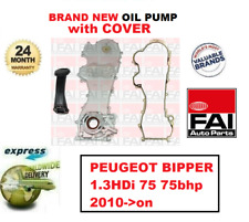 FOR PEUGEOT BIPPER 1.3HDi 75 75bhp 2010->on NEW FAI OIL PUMP + COVER + GASKET