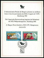 UNGARN UPU CONGRESS 1984 DELEGIERTEN-GESCHENK MINISTER GIFT RARE !!! z1807